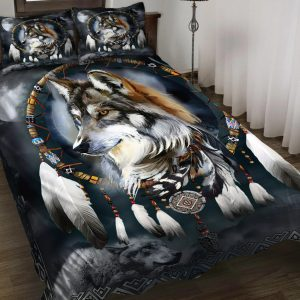 Wolf Native American 3D All Over Printed Bedding Set 2