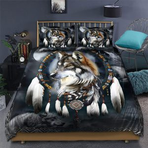 Wolf Native American 3D All Over Printed Bedding Set - Hothot 200421