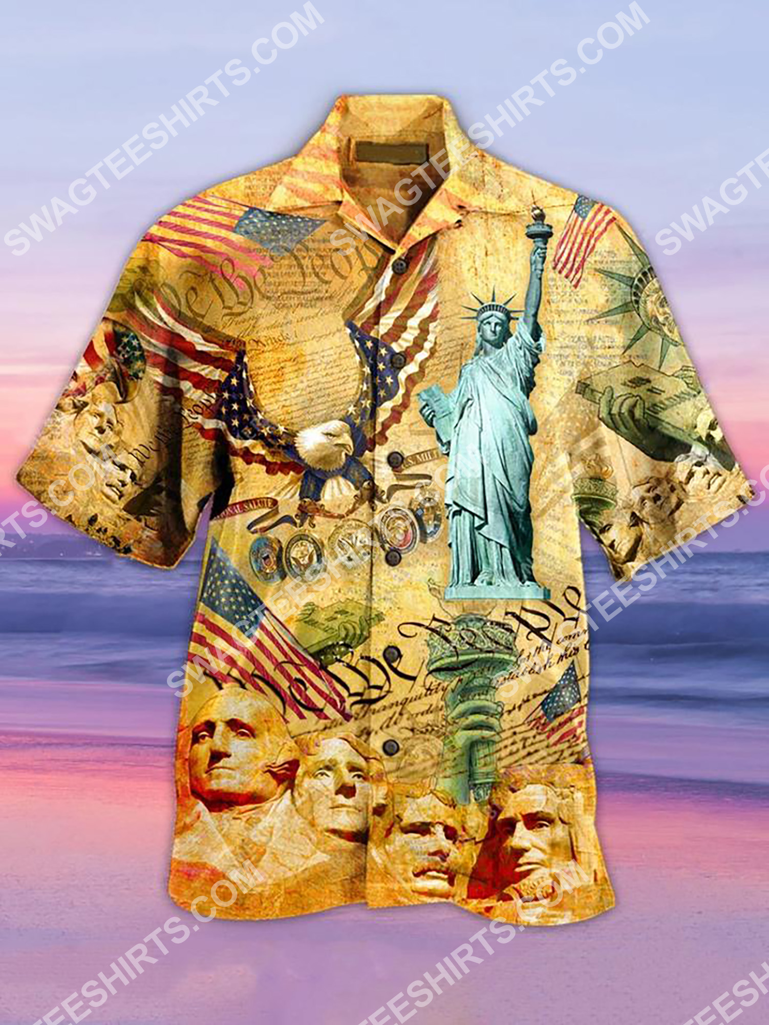 [Top-selling] america's independence day all over printing hawaiian shirt - maria