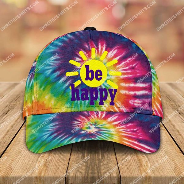 [Top-selling] be happy tie-dye colorful all over printed classic cap - maria