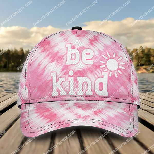 [Top-selling] be kind tie-dye colorful all over printed classic cap - maria
