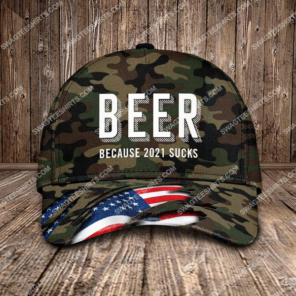 [Top-selling] beer because 2021 sucks all over printed classic cap - maria
