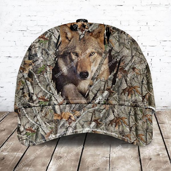 [Top-selling] camo version wolf all over printed classic cap - maria