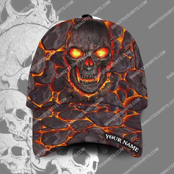 [Top-selling] custom name the lava skull all over printed classic cap - maria