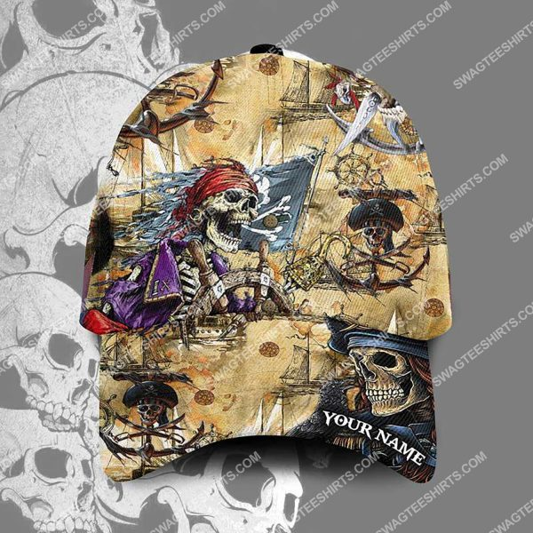 [Top-selling] custom name the skull pirates all over printed classic cap - maria