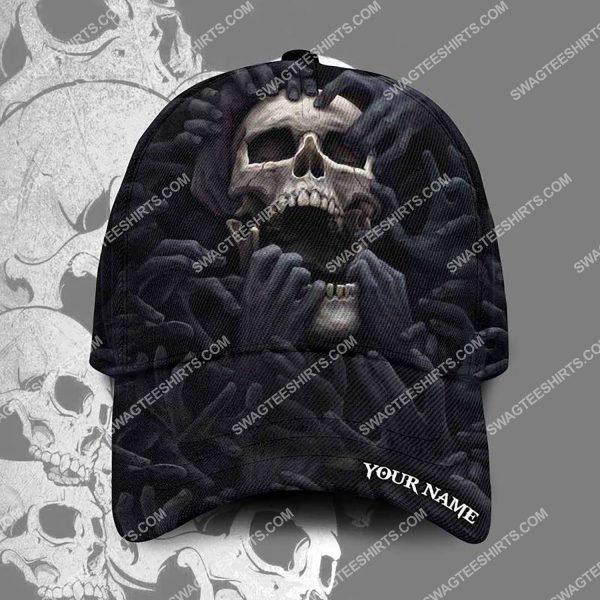 [Top-selling] custom name the skull scream all over printed classic cap - maria