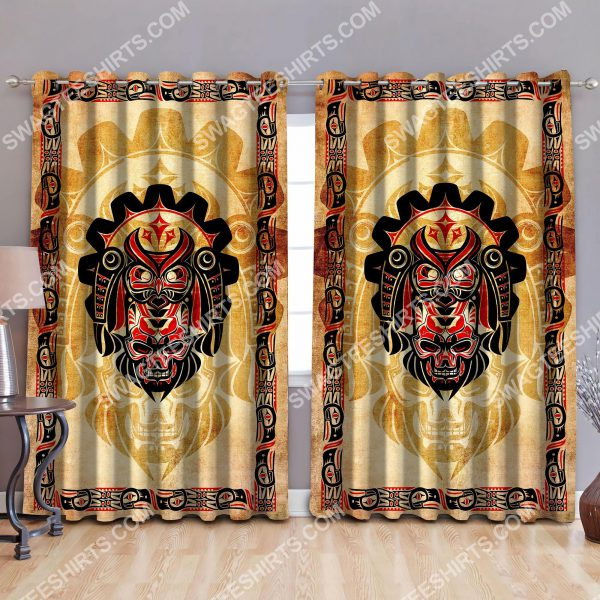 [Top-selling] haida indians all over printed window curtains - maria