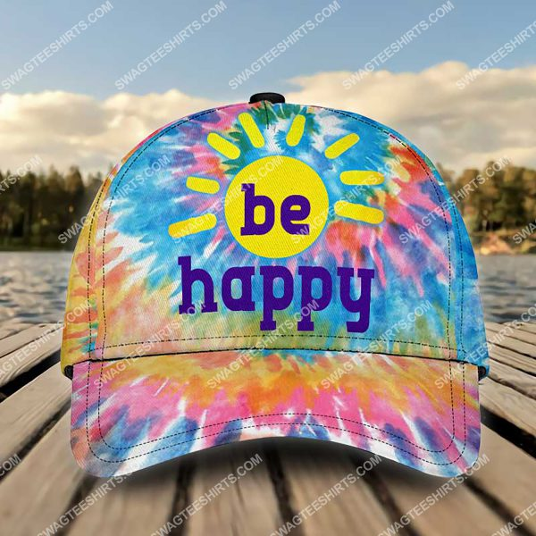 [Top-selling] hippie be happy colorful all over printed classic cap - maria