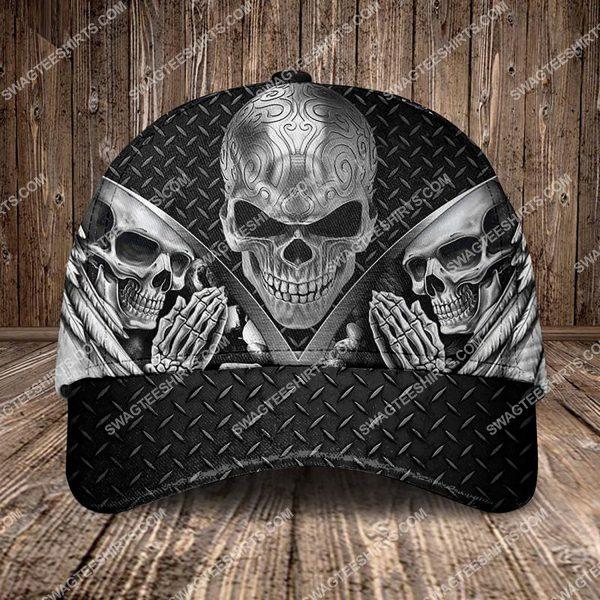 [Top-selling] the sugar skull pray all over printed classic cap - maria