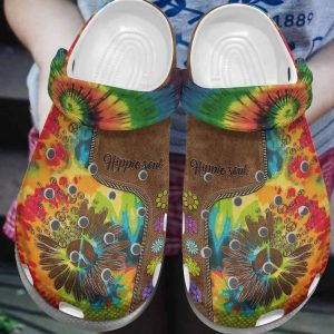 Flower hippe soul crocs crocband clog