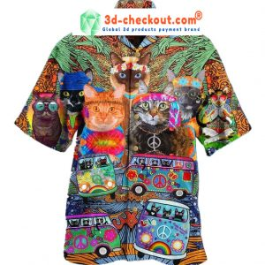 Hippie Cat Hawaiian Shirt