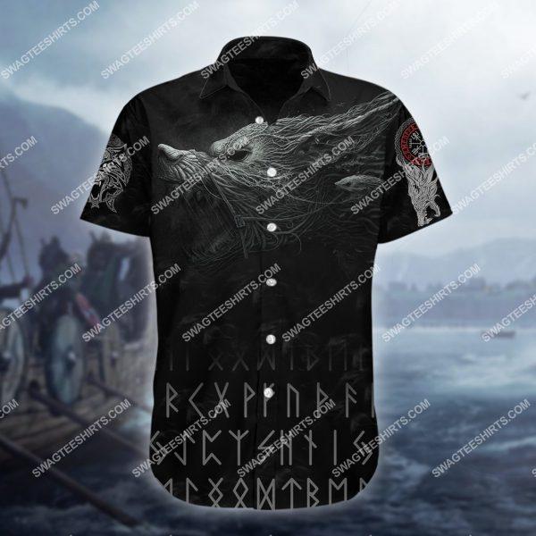 [Top-selling] the viking warrior wolf all over printed hawaiian shirt - maria