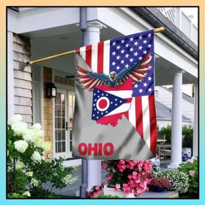 US State Ohio American Eagle Flag - LIMITED EDITION