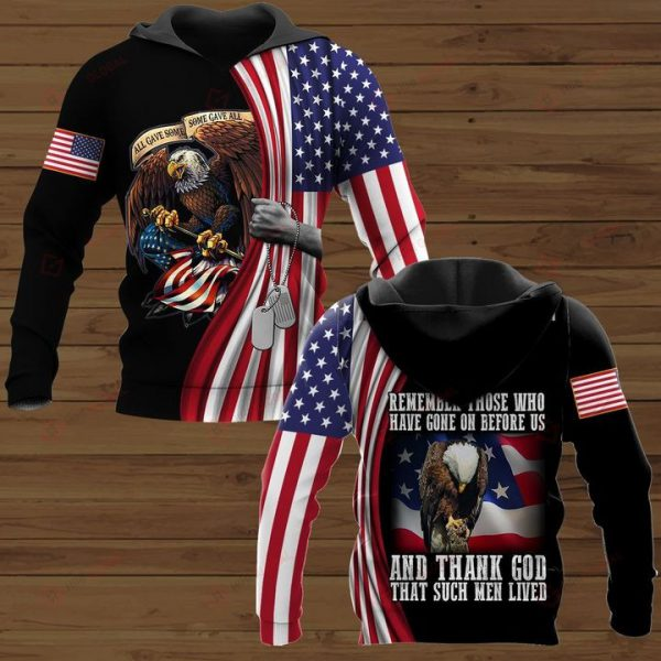 American Veteran Remember those who have gone on before us and thank god that such men lived 3D all over print shirt - Hothot 110621