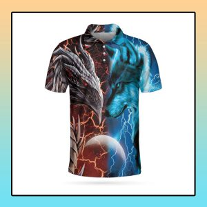 Heart Of A Wolf Soul Of A Dragon Polo shirt
