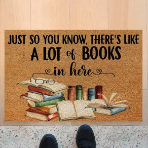 Just so you know there's like a lot books in here doormat
