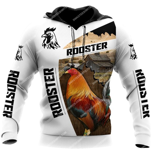 [Top-selling] the rooster chicken and farm life full printing shirt - maria