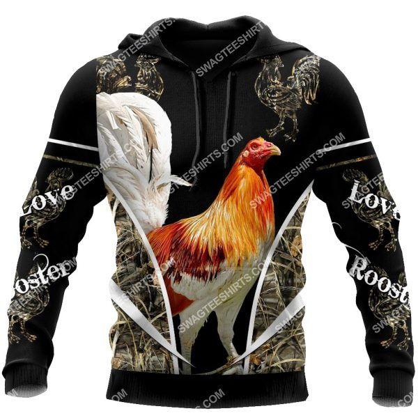 [Top-selling] the rooster chicken forest full printing shirt - maria