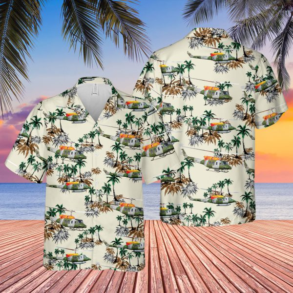 British Army Bell 212 Helicoter Hawaiian Shirt - LIMITED EDITION