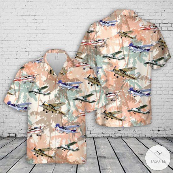 Cessna 182 Skylane Hawaiian Shirt, Beach Short  - TAGOTEE