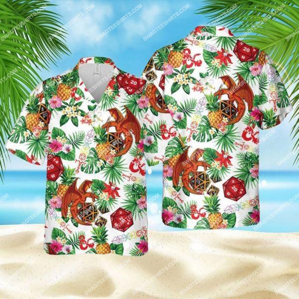 [Top-selling] Dice pineapple dragon dice game summer vacation hawaiian shirt - maria