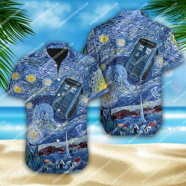 [Top-selling] Doctor who tardis starry night summer vacation hawaiian shirt - maria