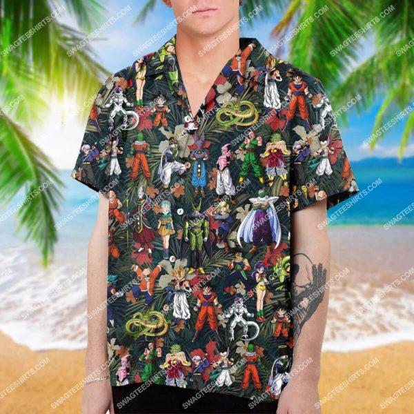 [Top-selling] Dragon ball z characters summer vacation hawaiian shirt - maria