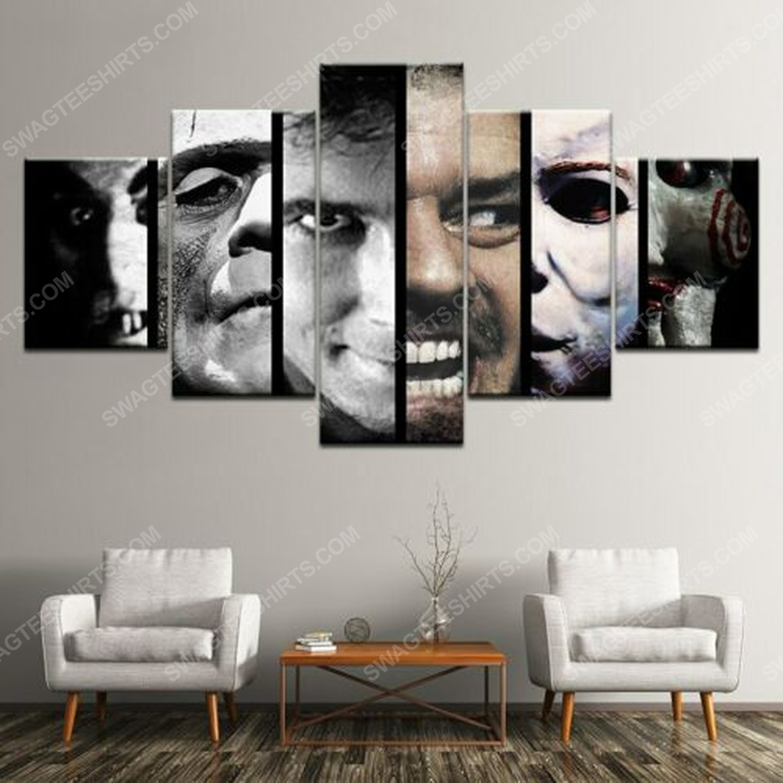 Halloween horror movie scary characters print painting canvas wall art home decor