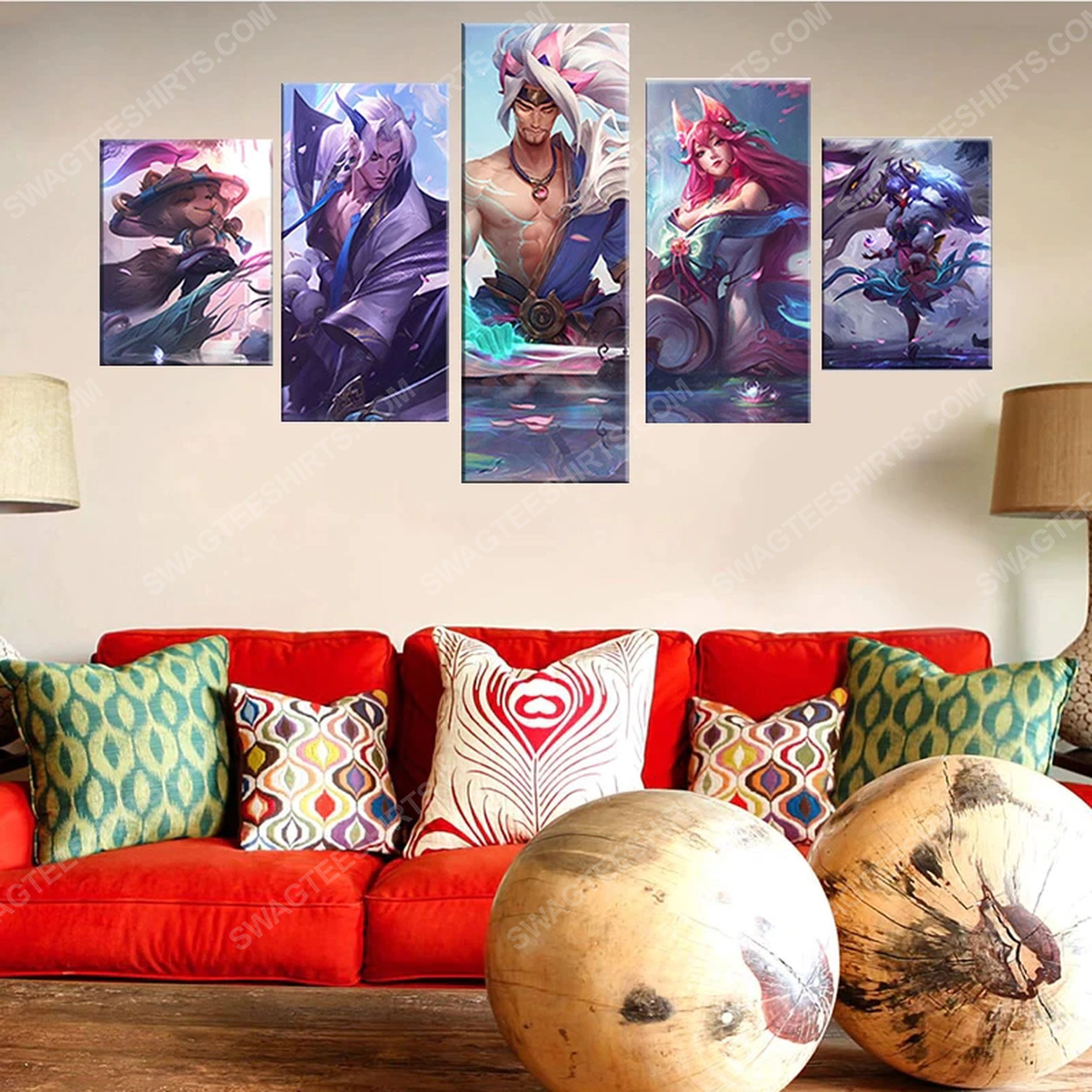 League of legends printed painting canvas wall art home decor