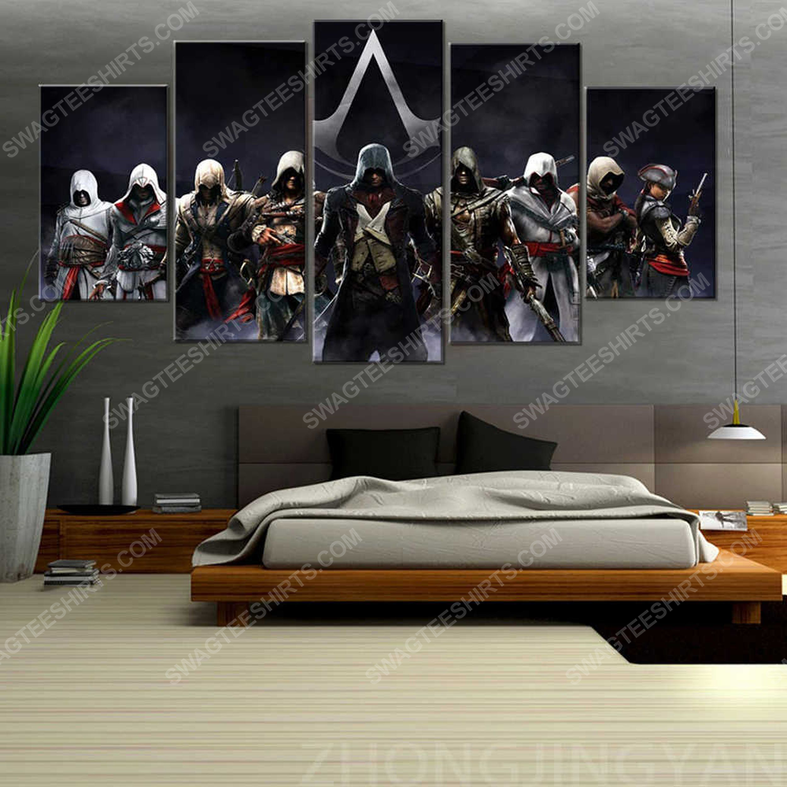 The assassin's creed game printed painting canvas wall art home decor