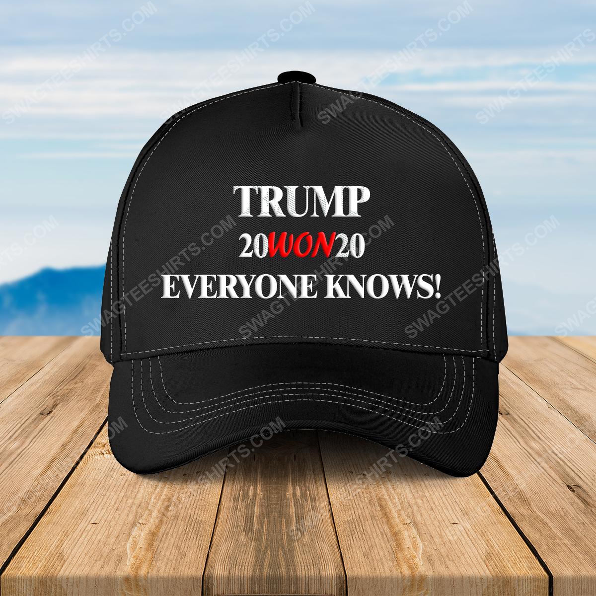 Trump 20won20 everyone american flag full print classic hat