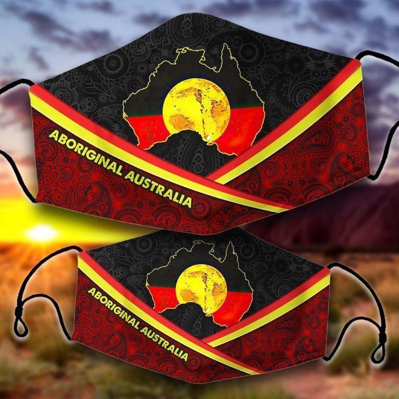 Aboriginal Australia face mask