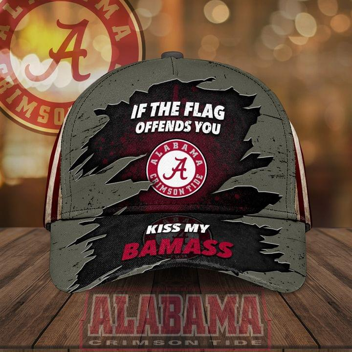 Alabama Crimson Tide If The Flag Offends You Kiss My Bamass Hat Cap