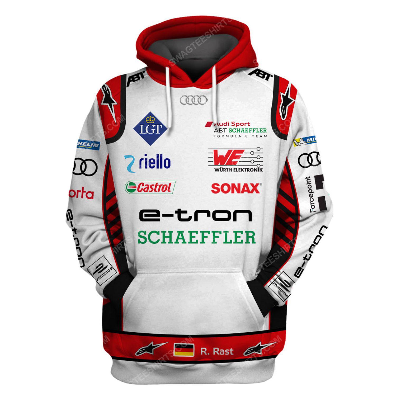 Audi e-tron schwarzer racing team motorsport full printing shirt 1