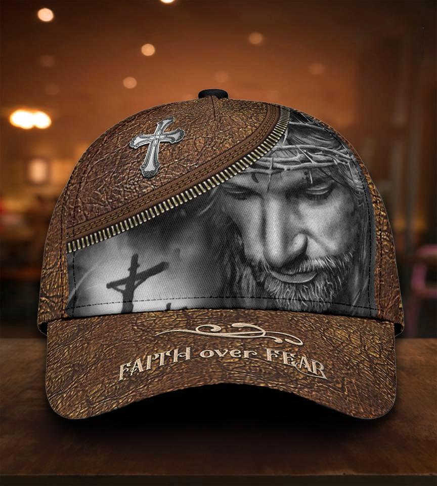 Jesus Faith Over Fear 3D Cap