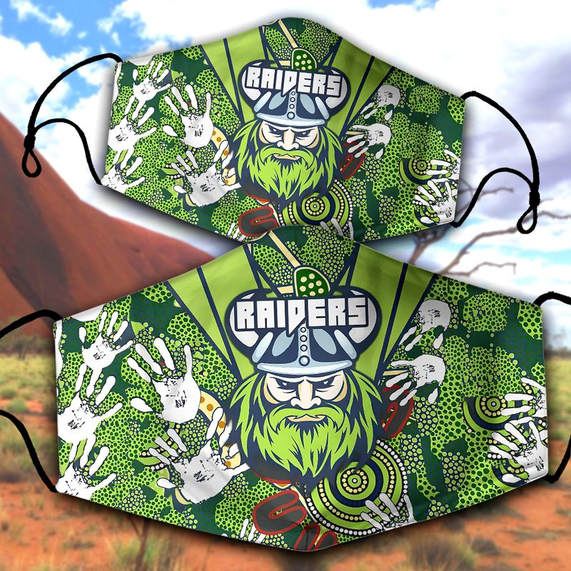 Canberra Raiders NRL face mask