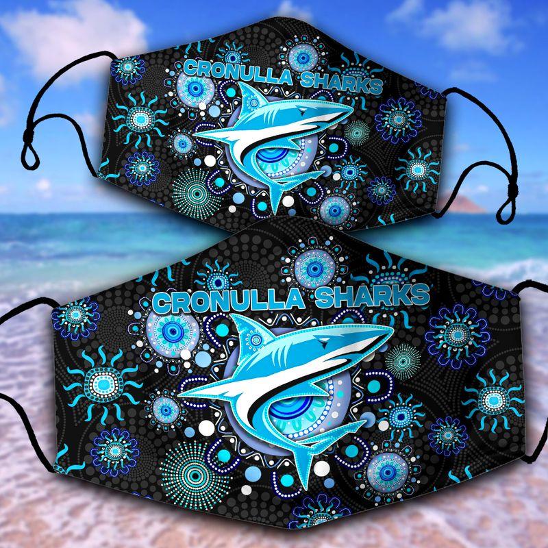 Cronulla-Sutherland Sharks NRL face mask