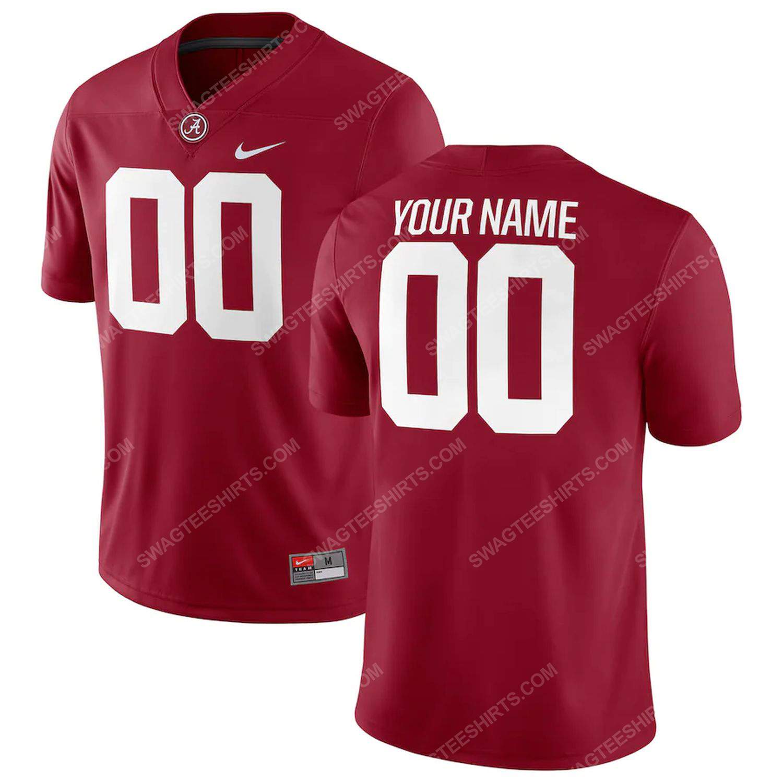 Custom alabama crimson tide football full print football jersey-crimson