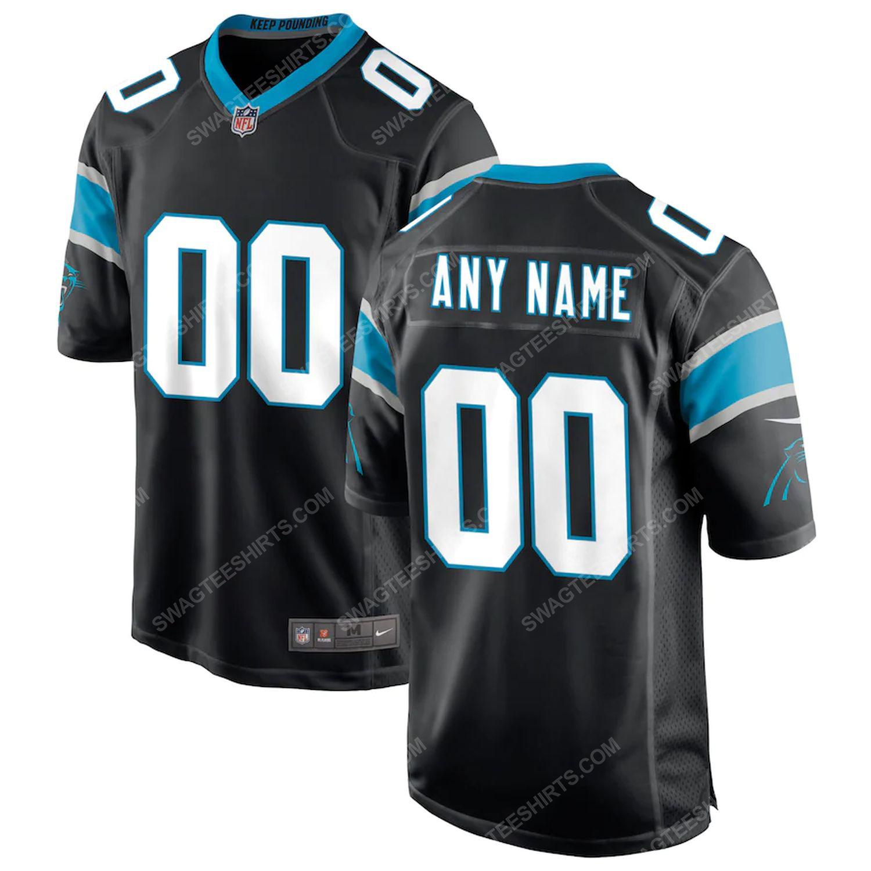 Custom carolina panthers football team full print football jersey-black
