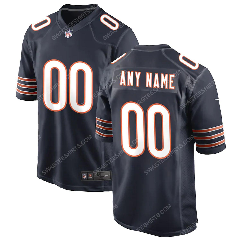 Custom chicago bears football team full print football jersey-navy