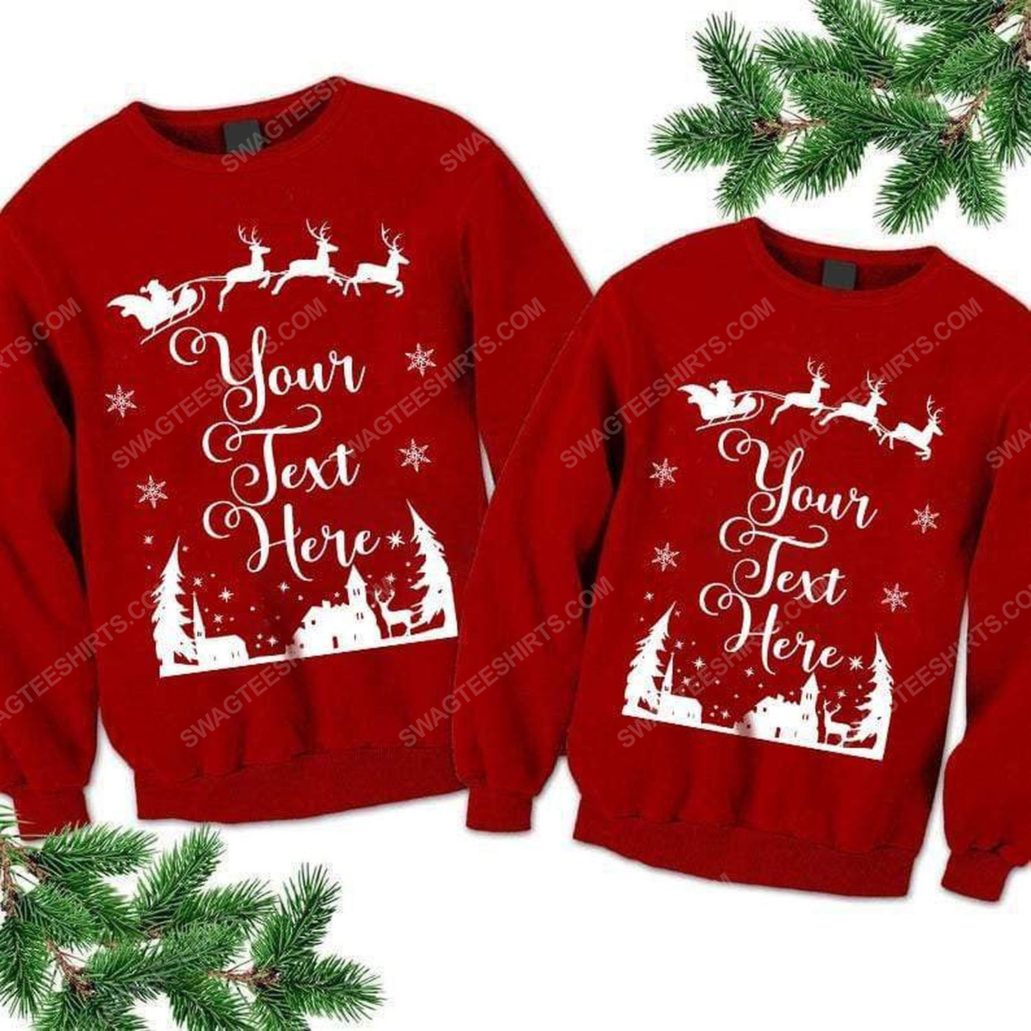 Custom for family all over print ugly christmas sweater