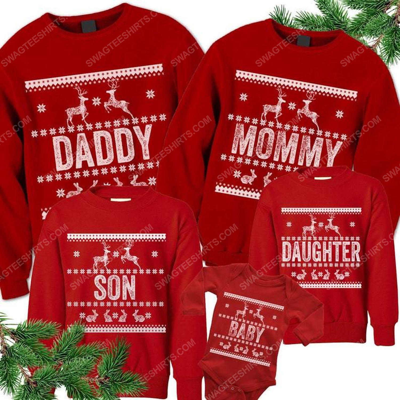 Custom for family and merry christmas all over print ugly christmas sweater