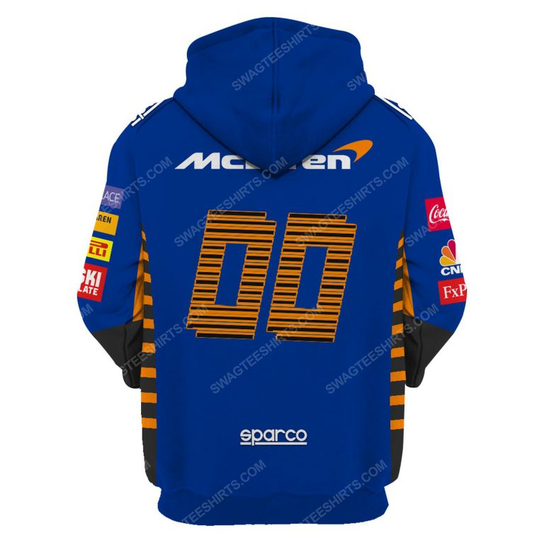 Dell technologies racing team motorsport full printing hoodie - back