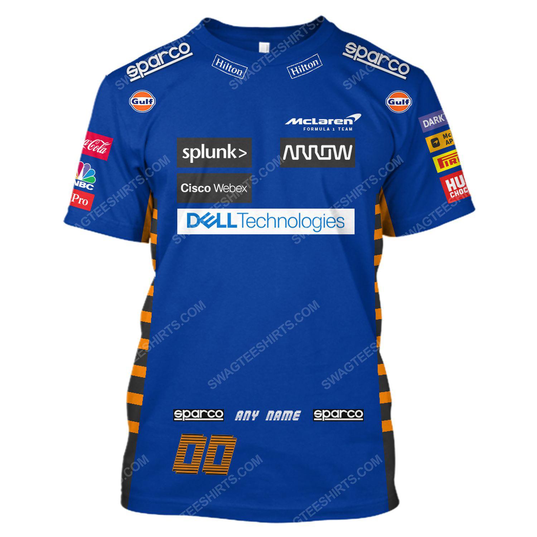 Dell technologies racing team motorsport full printing tshirt