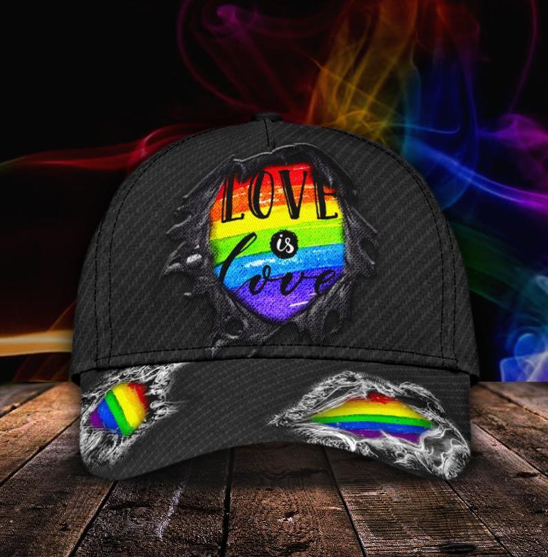 LGBT Love Is Love 3D Cap