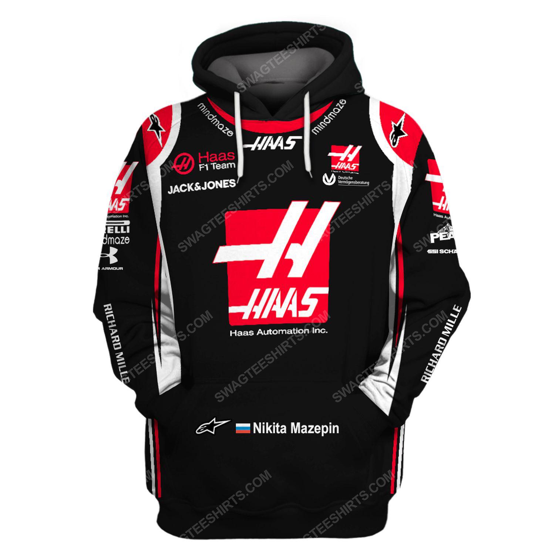 Haas automation inc racing team motorsport full printing shirt 1