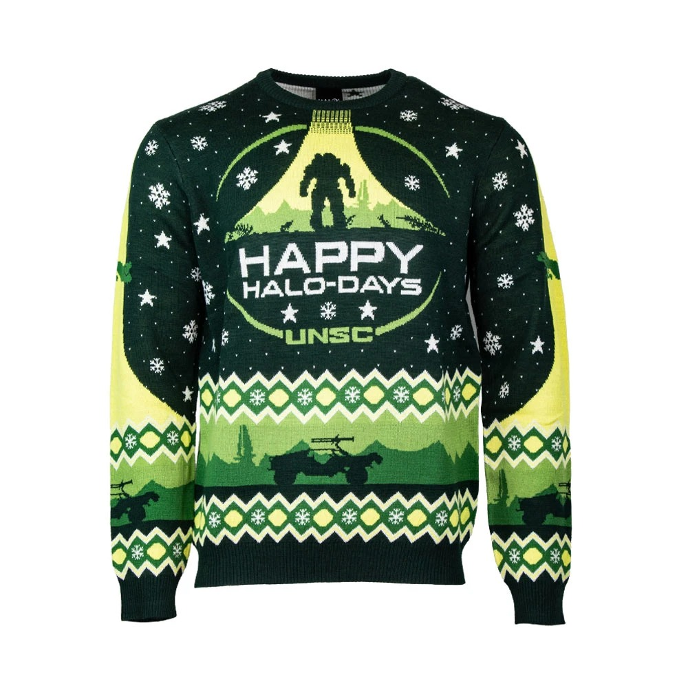 Happy halo-days christmas sweater and jumper