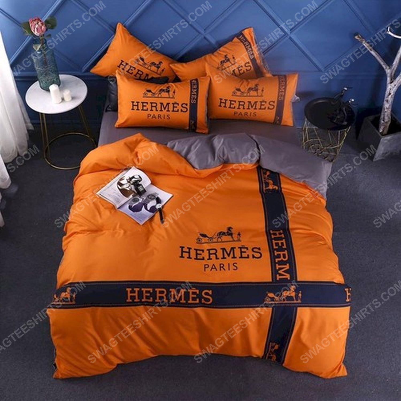 Hermes symbol full print duvet cover bedding set