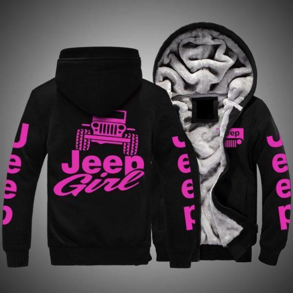 Jeep girl Fleece hoodie