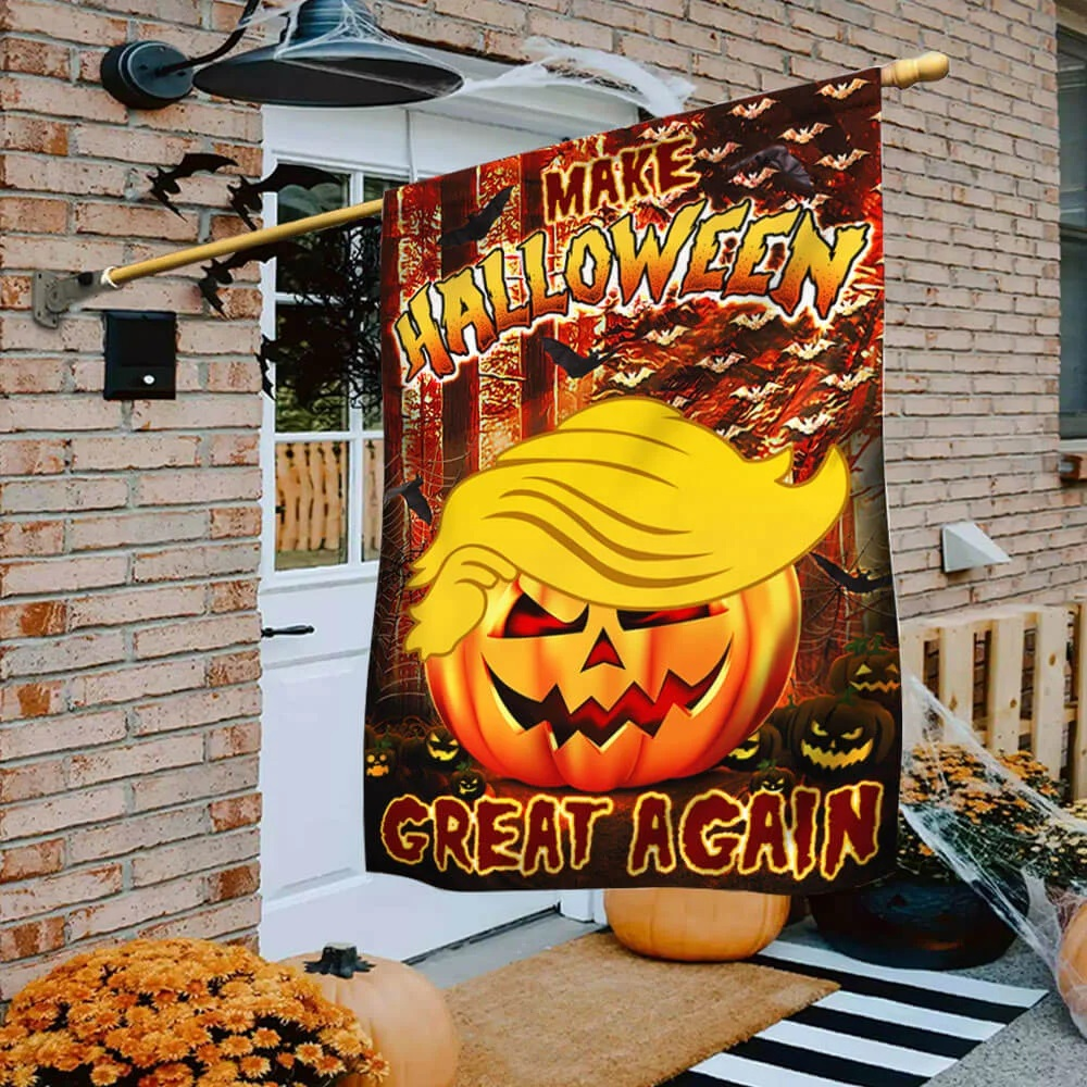 Make halloween great again Trump flag - Picture 2